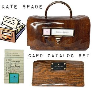 Kate Spade Card Catalog Required Reading RARE Bag
